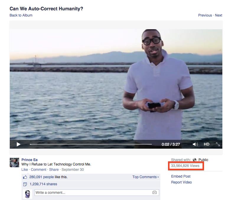 facebook contor vizualizari